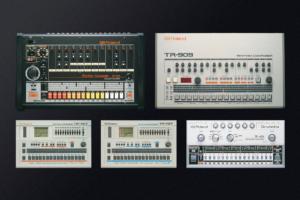 Les plus célèbres des boites à rythmes de Roland : les TR-606, TR-707, TR-727, TR-808 et TR-909.
